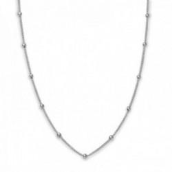 Gargantilla Rosefield JDCHS-J059 metal bañado plata Iggy Dotted choker silver 46cm. bolitas