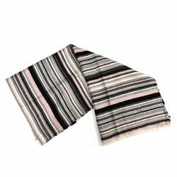 Pañuelo foulard Karambake modelo SWEET LINE 70x180cm. bufanda flecos detalle flor metálica