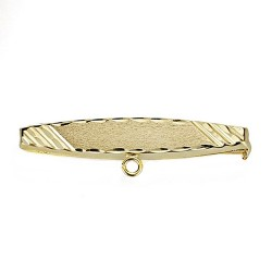 Alfiler oro 18k bebé extremos tallados 30mm. [7680]