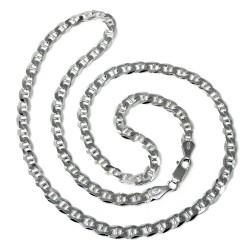 Cadena plata Ley 925m 50cm. modelo ancla lisa cierre mosquetón