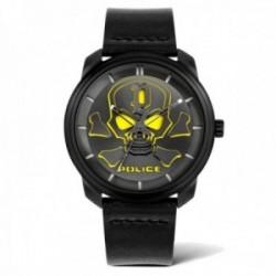 Reloj Police hombre PL.15714JSB-02 colección Bleder esfera calavera amarilla acero inoxidable