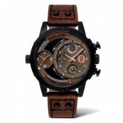 Reloj Police hombre PL.14536JSB-12A colección Adder acero inoxidable multifunción