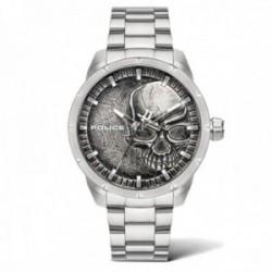 Reloj Police hombre PL.15715JS-78M colección Neist plateado acero inoxidable esfera calavera relieve