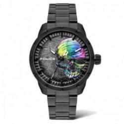 Reloj Police hombre PL.15715JS-78M colección Neist negro acero inox. esfera calavera colores relieve