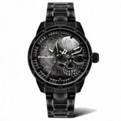 Reloj Police hombre PL.15715JSQU-78M colección Neist negro acero inoxidable esfera calavera relieve