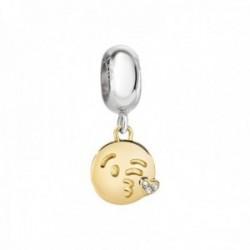 Charm Morellato SCZ883 acero inoxidable 23mm. colección Drops emoji beso circonitas mujer