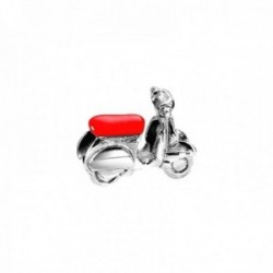Charm Morellato SCZJO acero inoxidable 20mm. colección Drops moto Vespa roja mujer