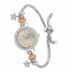 Reloj pulsera Morellato R0153122556 mujer colección Drops adaptable cola topo charms estrellas