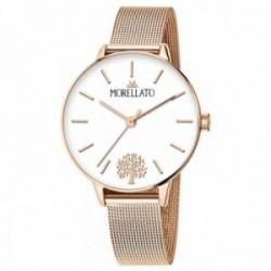 Reloj Morellato R0153141540 mujer colección Ninfa correa malla milanesa detalle árbol vida