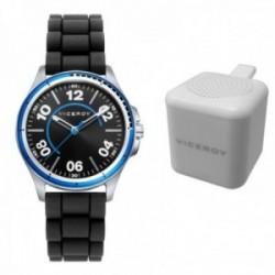 Juego pack reloj Viceroy 42405-54 niño colección Next detalles azules altavoz inalámbrico Bluetooth