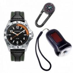 Juego pack reloj Viceroy 42403-54 niño colección Next verde acero inoxidable linterna brújula