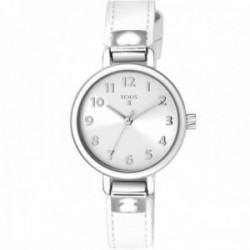 Reloj Tous niña 900350195 Dream Silver acero inoxidable correa piel blanca detalles corazón oso