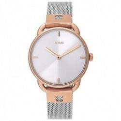 Reloj Tous mujer 000351490 Let Mesh bicolor acero inoxidable IP rosado malla milanesa