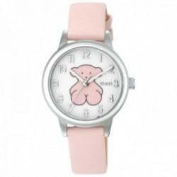 Reloj Tous niña 000351435 New Muffin acero inoxidable correa piel rosa detalle oso