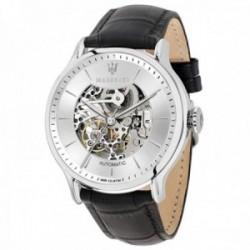 Reloj Maserati hombre R8821118003 Epoca atomático acero inoxidable negro correa piel