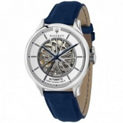 Reloj Maserati hombre R8821136001 Gentleman automático acero inoxidable azul correa piel