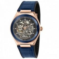 Reloj Maserati hombre R8821139003 Triconic automático acero inoxidable correa mixta azul