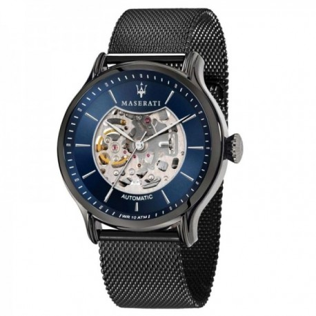 Reloj Maserati hombre R8823118003 Epoca automático acero inoxidable gris oscuro malla milanesa