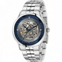 Reloj Maserati hombre R8823133005 Ricordo automático acero inoxidable plateado detalle azul
