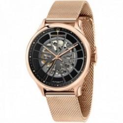 Reloj Maserati hombre R8823136001 Gentleman automático acero inoxidable rosado malla milanesa