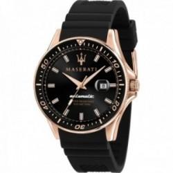 Reloj Maserati hombre R8821140001 Sfida automático acero inoxidable detalles rosados correa silicona