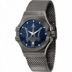 Reloj Maserati hombre R8853108005 Potenza acero inoxidable logo fondo azul correa malla milanesa