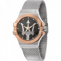 Reloj Maserati hombre R8853108006 Potenza acero inoxidable logo plateado correa malla milanesa