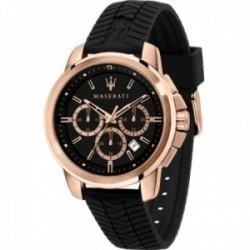 Reloj Maserati hombre R8871621012 Successo acero inoxidable multifunción correa dibujo neumático