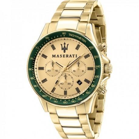 Reloj Maserati hombre R8873640005 Sfida acero inoxidable multifunción dorado