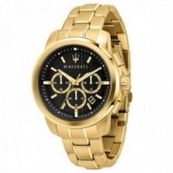 Reloj Maserati hombre R8873621013 Successo acero inoxidable dorado multifunción esfera rayas