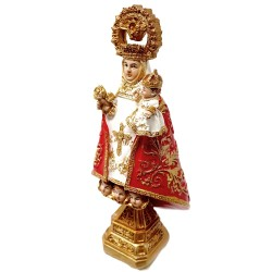 Figura Virgen de Covadonga adorno 12cm. resina peana decoración