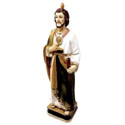 Figura San Judas Tadeo adorno 20cm. resina peana decoración
