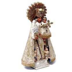 Figura Virgen de los Desamparados adorno 18cm. resina peana decoración