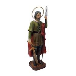 Figura San Isidro Labrador adorno 18cm. resina peana decoración