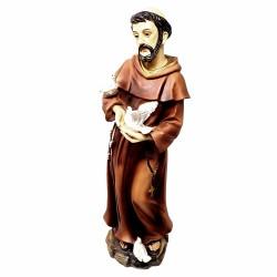 Figura San Francisco de Asís adorno 30cm. resina peana decoración