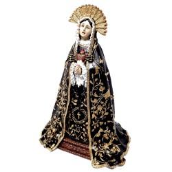 Figura Virgen Dolorosa adorno 25cm. resina peana decoración