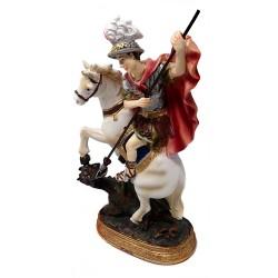 Figura San Jorge adorno 21cm. resina peana decoración
