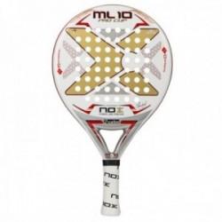 Pala pádel Nox ML10 Pro Cup. Núcleo: HR3 Black. Marco: 100% carbono. Caras: Fiber Glass Silver 3K.