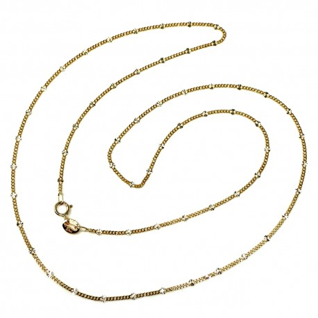 Cadena oro 18k maciza diamantada 50 cm. 1,5 mm 1.85 gr [9447]