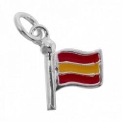 Colgante plata Ley 925m bandera España 15mm. esmaltada color ambas caras