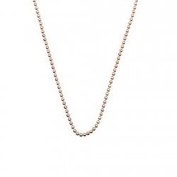 Cadena plata Ley 925um rosa bola diamantada 1,2mm. 40-50 cm. [5737]