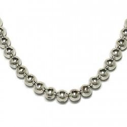 Gargantilla collar plata ley 925um bola 10 47cm. [719]