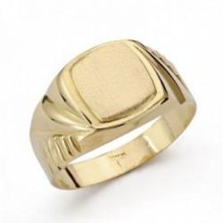 Sello oro 18k cadete tallado. Recomendado para niños o uso en el dedo meñique.