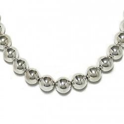 Gargantilla collar plata ley 925um bola 14 42cm. [1731]