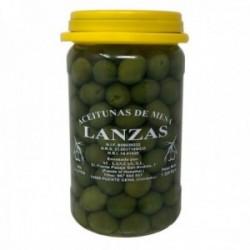 Aceitunas LANZAS sabor chupadeos 0,8 kg. peso escurrido encurtido calidad artesanal bote plástico