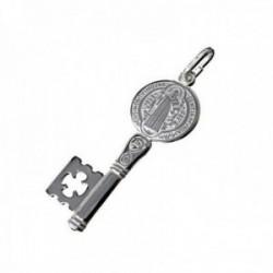 Colgante plata Ley 925m llave San Benito 33mm. unisex