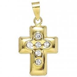 Colgante Gold Filled cruz 6 circonitas [2472]