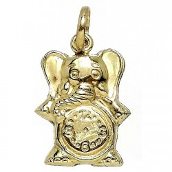 Colgante Gold Filled elefante con reloj liso detrás [2511]