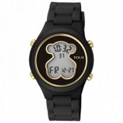 Reloj Tous mujer 000351590 D-Bear digital esfera policarbonato centro oso correa silicona negro