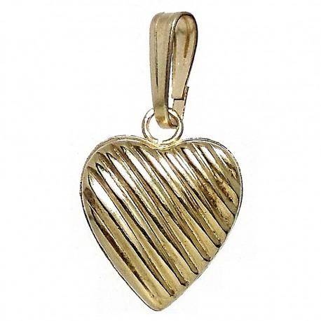 Colgante Gold Filled corazón galloneado hueco [2529]